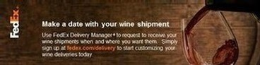 Make a date with your wine shipment