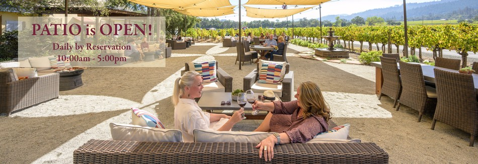 Benessere Vineyards Patio Cheers - Patio is Open