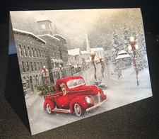 Red Wine Truck Christmas Card
